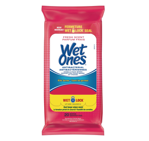 Wet Ones Antibacterial Hand Wipes 20