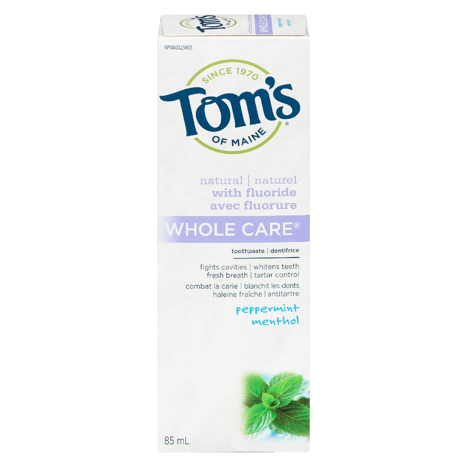 Tom's of Maine Whole Care Toothpaste 85mL