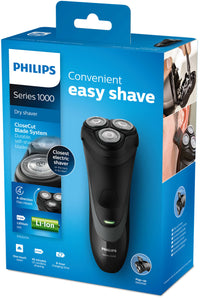 Philips Series 1000 Convenient Easy Shave Dry Shaver
