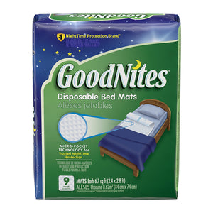 GoodNites Disposable Bed Mats - 9 Mats