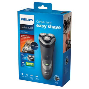 Philips Series 3000 Convenient Easy Shave Dry Shaver