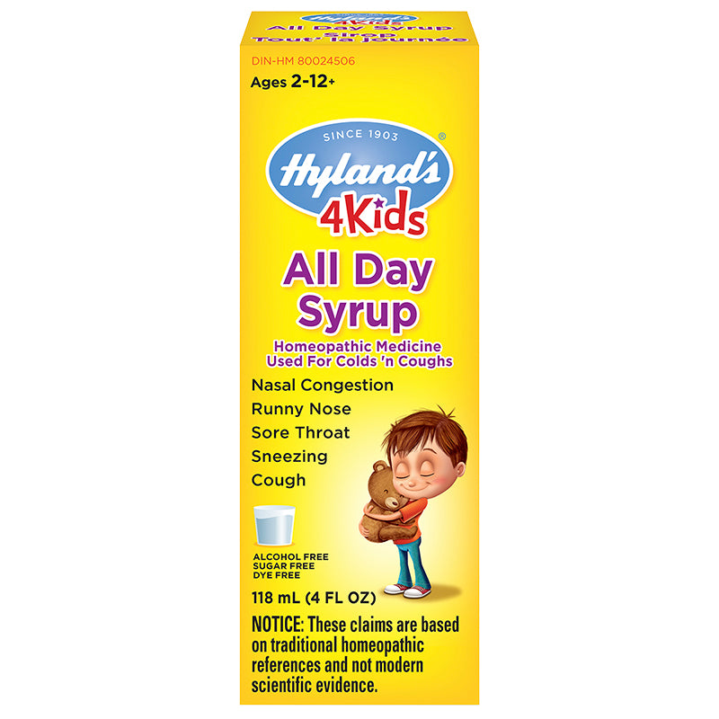 Hyland's 4Kids All Day Syrup 118mL