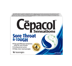 Cepacol Sensations Sore Throat & Cough 16 Lozenges