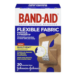 Band-Aid Flexible Fabric Knuckle & Fingertip Assorted Sizes 20