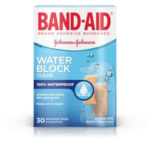 Band-Aid Water Block Clear Assorted Sizes 30