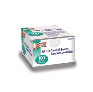 BD Alcohol Swabs 100