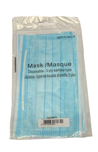 Blue Disposable Mask 3 Pack