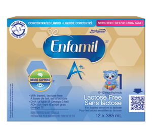 Enfamil A+ Lactose Free Concentrate 12x385mL
