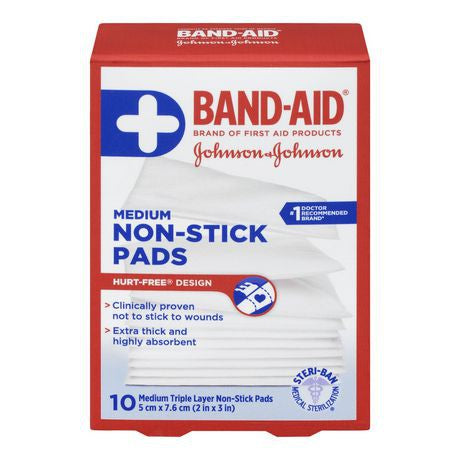 Band-Aid Non-Stick Pads 10