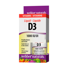 Webber Naturals Liquid Vitamin D3 25mL (100 Servings)