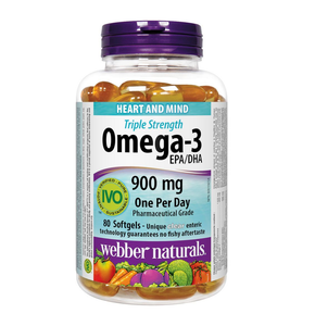 Webber Naturals Triple Strength Omega-3 900mg 80 Softgels
