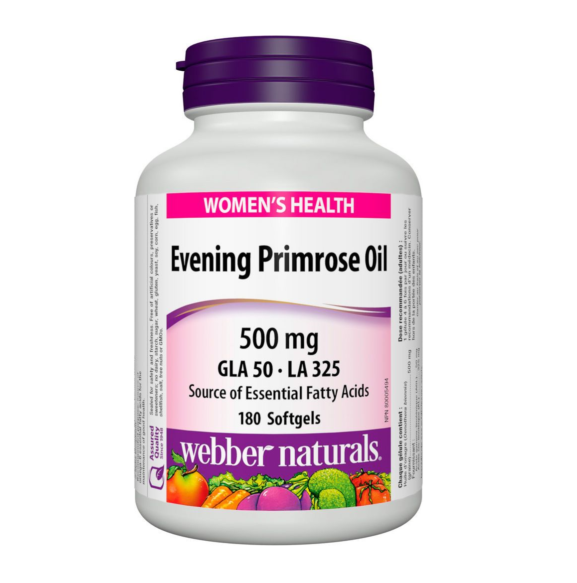 Webber Naturals Evening Primrose Oil 180 Softgels
