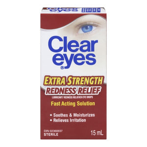 Clear Eyes Extra Strength Redness Relief Lubricant Eye Drops 15mL