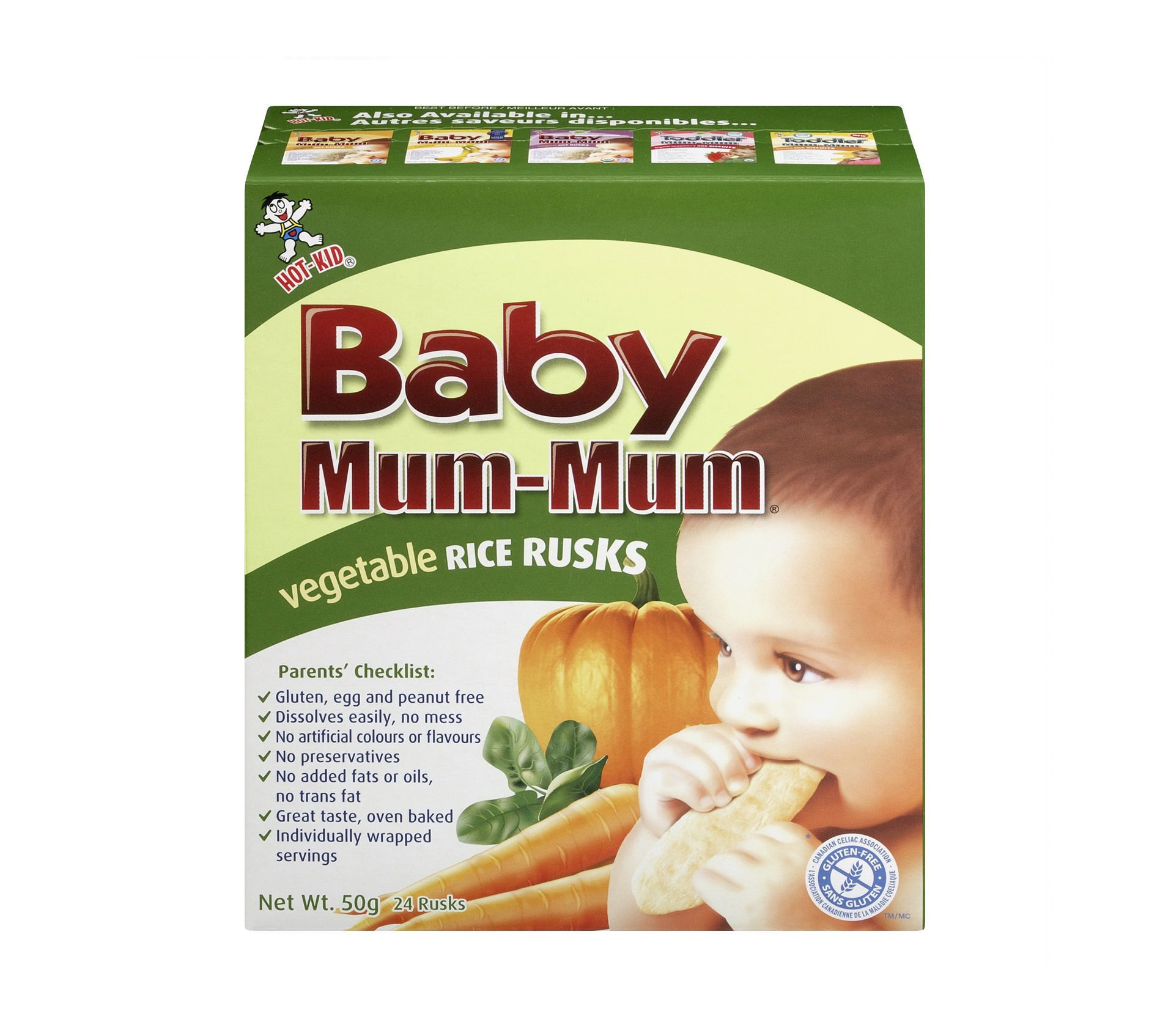 Baby Mum-Mum Vegetable Rice Rusks