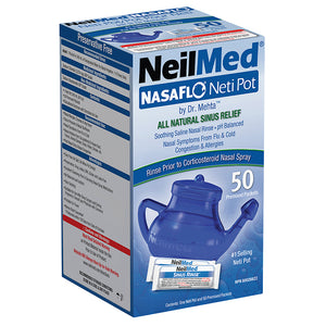 NeilMed NasaFlo Neti Pot & 50 Premixed Packets