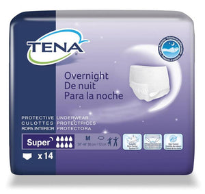 Tena Overnight Fully Breathable Underwear Size Medium 14 Count