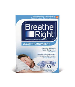Breathe Right Nasal Strips 30 Clear Strips