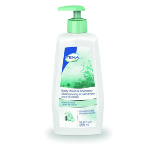 Tena Body Wash & Shampoo 500mL