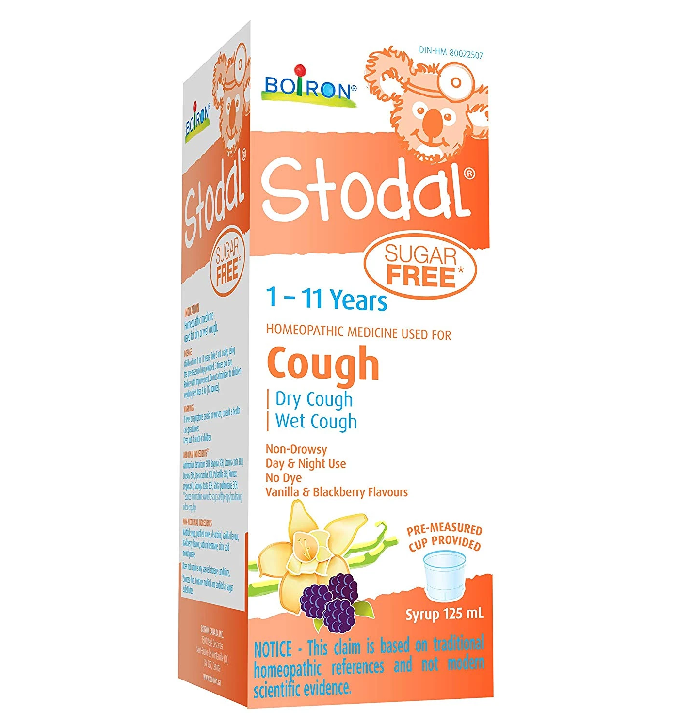Boiron Stodal 1 - 11 Years Cough Syrup 125mL Sugar Free