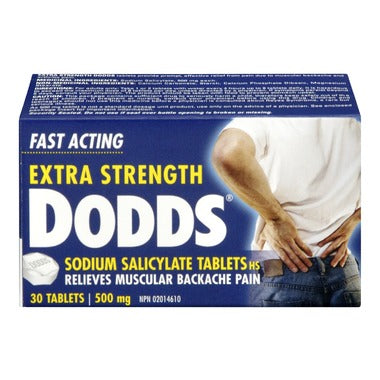 Dodds Extra Strength Sodium Salicylate 500mg 30 Tablets
