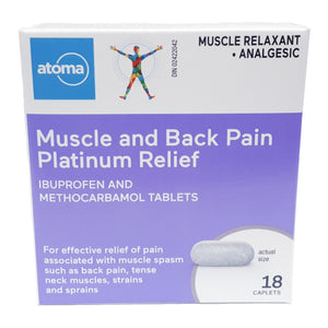 Atoma Muscle and Back Pain Platinum Relief Caplets