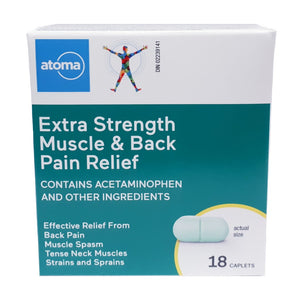 Atoma Muscle & Back Pain Relief Caplets Extra Strength