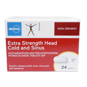 Atoma Extra Strength Head Cold and Sinus 24 Caplets