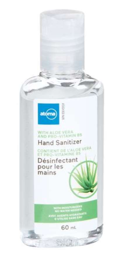 Atoma Hand Sanitizer with Aloe Vera and Pro-Vitamin B5 60mL