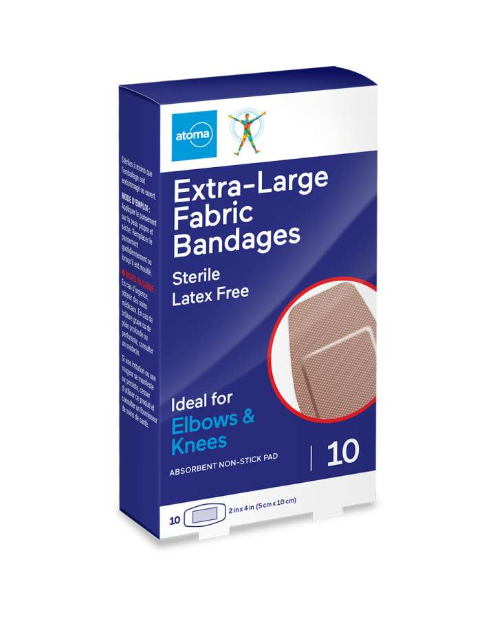 Atoma Extra-Large Fabric Bandages 10 Elbows & Knees