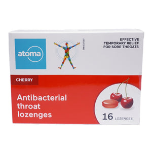 Atoma Cherry  Antibacterial Throat Lozenges 16 Lozenges