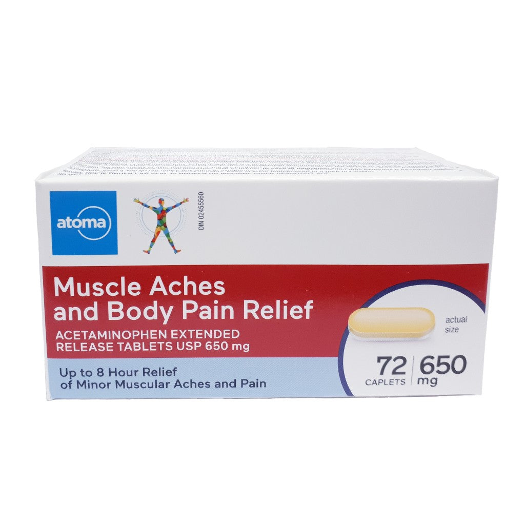 Atoma Muscle Aches and Body Pain Relief 72 Caplets