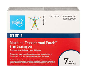 Atoma Nicotine Transdermal Patch Step 3 7 Patches