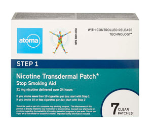 Atoma Nicotine Transdermal Patch Step 1 - 7 Patches
