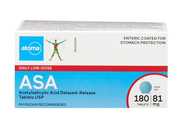 Atoma Coated Daily Low Dose ASA 81mg
