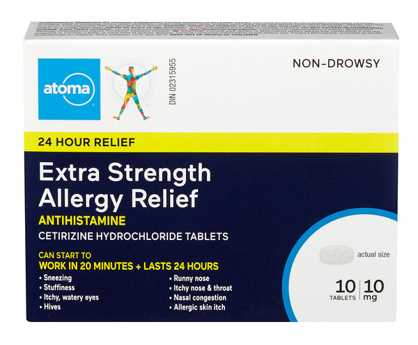 Atoma Extra Strength Allergy Relief Tablets