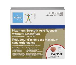 Atoma Acid Reducer Maximum Strength 150mg
