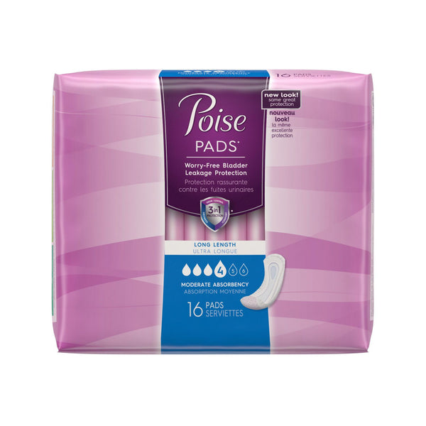 Poise Pads Long Length Moderate