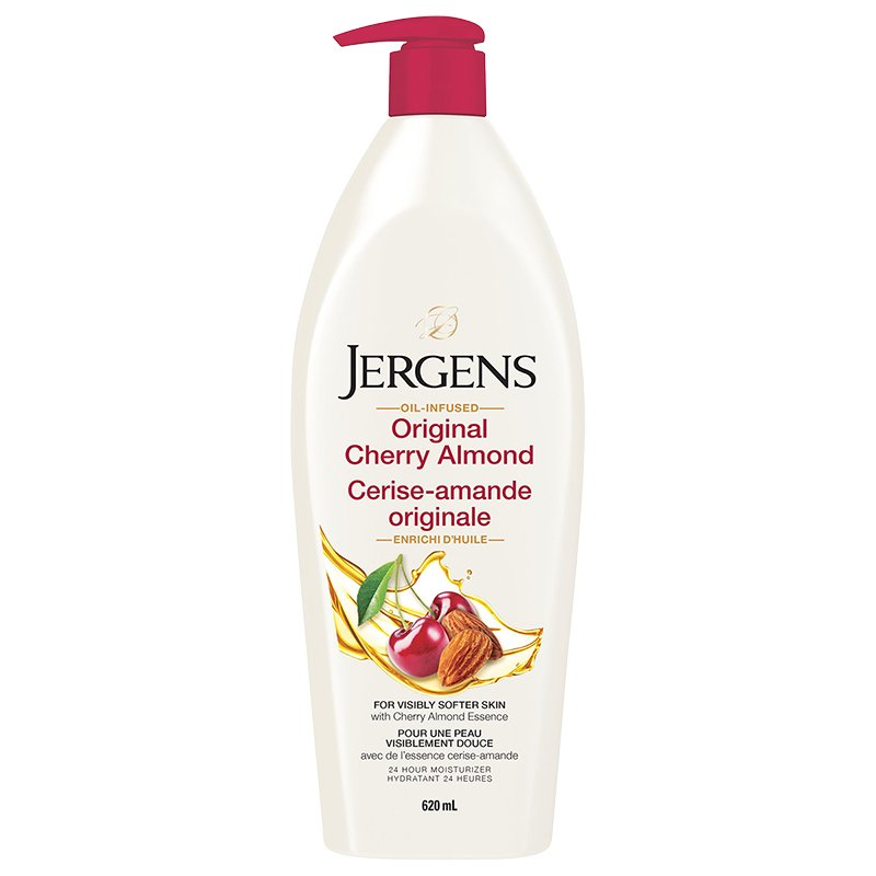 Jergens Oil Infused Original Cherry Almond Body Lotion 620ml