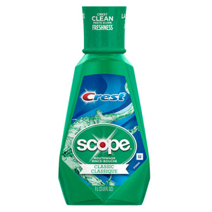 Crest Scope Classic Cool Wintergreen Mouth Wash 1L