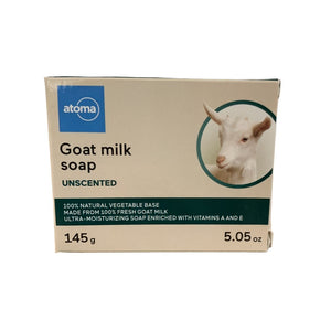 Atoma Goat Milk Unscented Soap 1 Bar