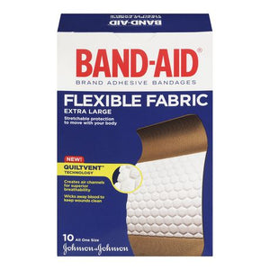 Band-Aid Flexible Fabric Extra Large 10 Bandages