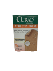 Curad Athletic Foam Water-Resistant 30 Bandages