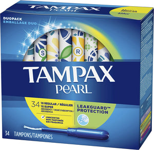 Tampax Pearl Leakguard Protection Duopack