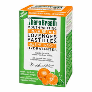 Thera Breath Dry Mouth Lozenges 72 Wrapped Lozenges Mandarin + Mint