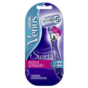Gillette Venus Swirl 5 Blade Reusable Razor with 2 Cartridges