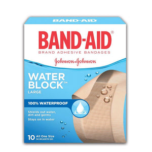 Band-Aid Water Block Large Waterproof 10 Bandages