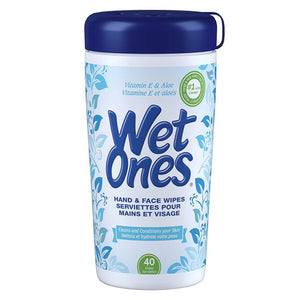 Wet Ones Hand & Face Wipes 40 Wipes