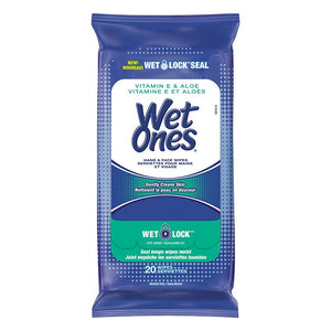 Wet Ones Hand & Face Wipes 20 Wipes