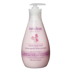 Live Clean Sweet Pea Liquid Hand Soap 500ml