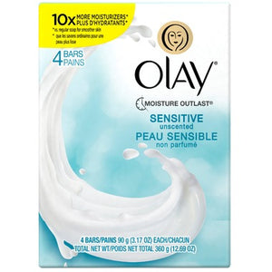 Olay Sensitive Skin Unscented Soap 4 Bars